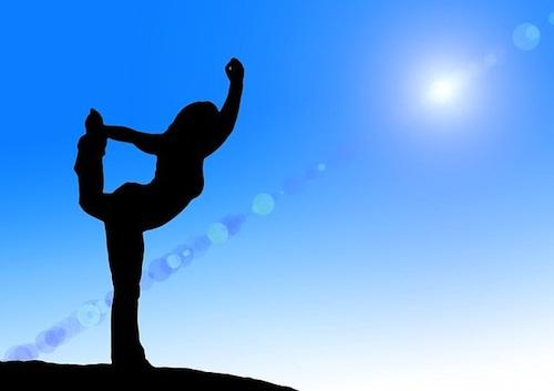 image of person balancing